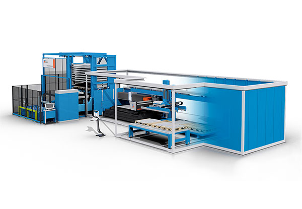Platino Fiber + Automatic Part Sorting & Combo Tower Laser